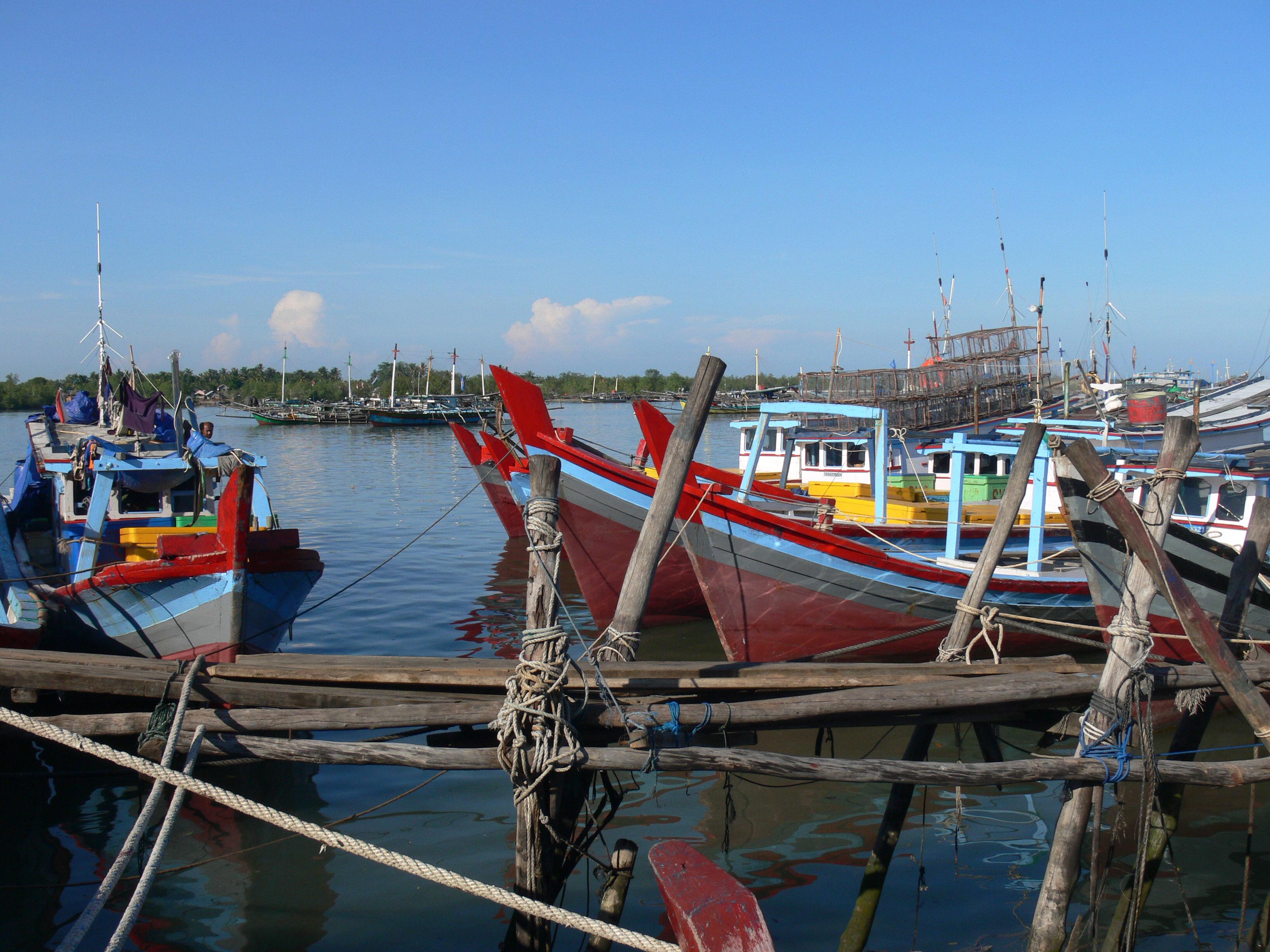 port de peche Tanjung Pandan Belitung Indonésie