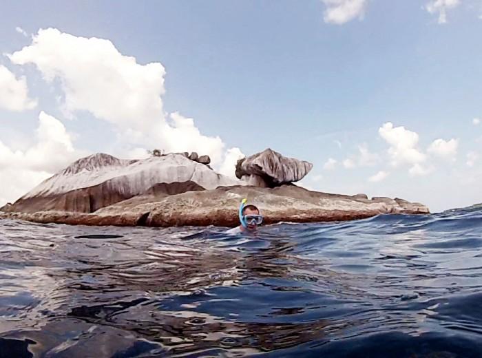 derriere pulau garudaSnorkeling Belitung Indonésie