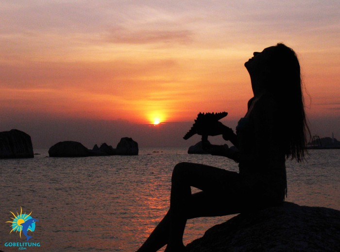 Coucher de soleil Belitung Indonesie