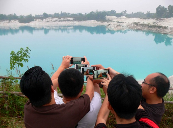 Danau Kaolin  Belitung Indonésie