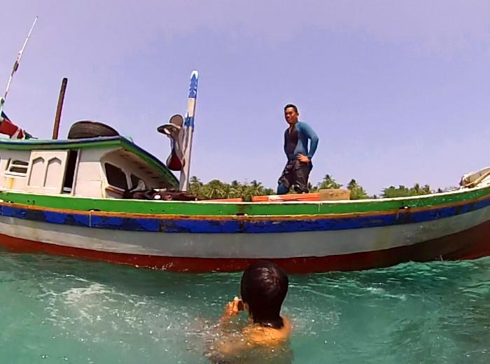 L e bateau Belitung Indonesie