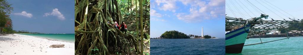 plage-foret-iles-bagan Belitung Indonésie